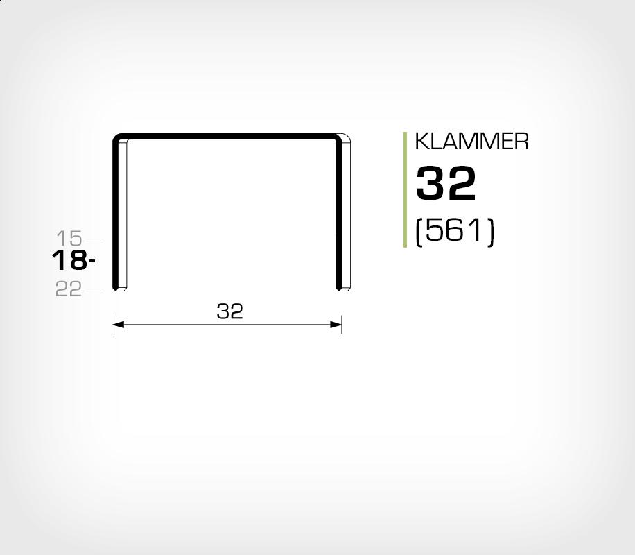 Klammer 32/18 (561-18K) - OMER