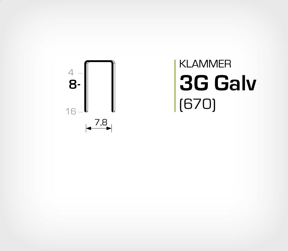 Klammer 3G/8 Elförzinkad Galv (670-08)