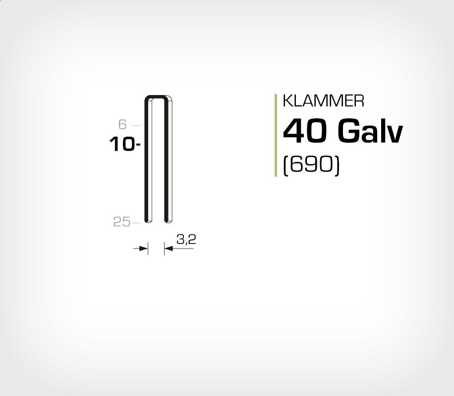 Klammer 40/10 Elförzinkad Galv (690-10)