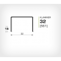 Klammer 32/18 (561-18K) - 2000 st / ask