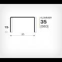 Klammer 35/15 (560-15K) - 2000 st / ask