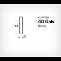 Klammer 40/14 Galv (690-14) - 10000 st / ask
