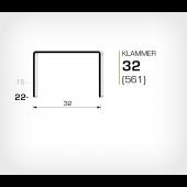 Klammer 32/22 (561-22K) - OMER