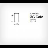 Klammer 3G/5 Elförzinkad Galv (670-05)