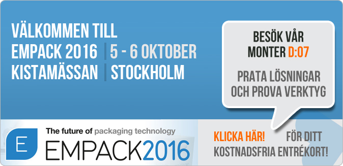 Besök Hjotrade på Empack i Kista 5 - 6 oktober 2016