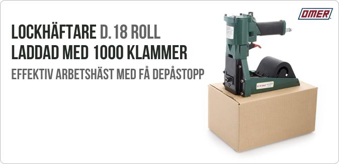 Lockhäftaren D.18 Roll för effektiv kartonghäftning